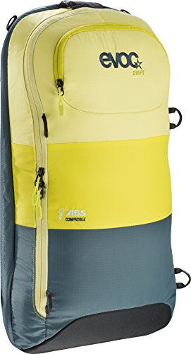 Vario-fleece (EVOC Rucksack Aufsatz Zip-On ABS Drift, Yellow-Sulphur-Petrol, 56 x 27 x 7 cm, 10 Liter, 6214-166)