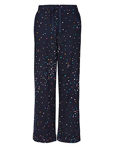 Storelines Damen Schlafanzughose Gr. 38, Marineblau  mit Sternenmotiv
