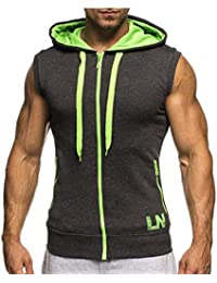 Weimilon Sudadera con Capucha para Sin Mangas Blusas Slim Moda Hombre Fit Sudadera Bodybuilding Deportiva Gym