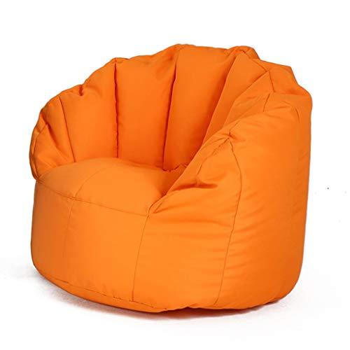 Sitzsack Erwachsene Shell Lazy Sofa Kids Personalisierte Lounge Garden Geeignet für Spielzeug Lagerung lI (Color : Orange, Size : 60x55cm)