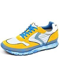 VOILE BLANCHE F3012 Sneaker Uomo Grey Yellow Liam Dash Paint Scarpe Shoe Man e031ecc94c6