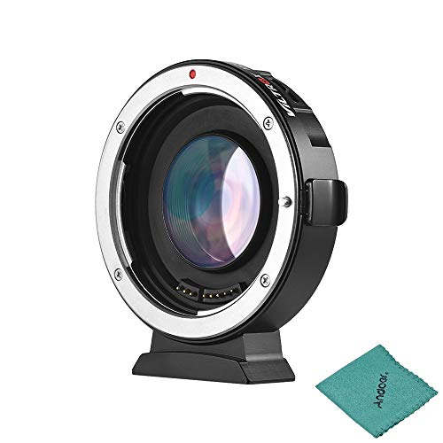 VILTROX EF-M2 Autofokus Objektiv Mount Adapter 0.71X für Canon EOS (EF) Objektiv zu Micro Four Thirds (MTF, M4 / 3) Kamera GH4/5 GF6 GF1 GX1 E-M5 E-M10 E-PL5