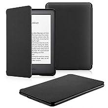 OMOTON Kindle hülle für der Neue Kindle (10. Generation–2019), Schlanke und leicht, PU-Leder Hülle, mit Auto Sleep/Wake Funktion, schwarz