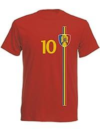 Rumänien Kinder T-Shirt Trikot St-1 EM 2016 - rot Romania Kids
