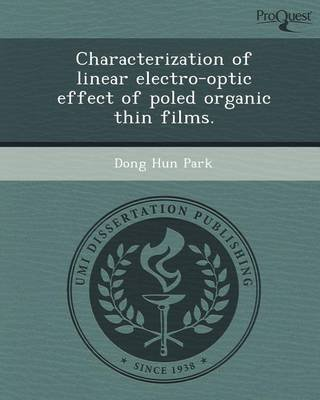 characterization-of-linear-electro-optic-effect-of-poled-organic-thin-films-by-dong-hun-park-publish