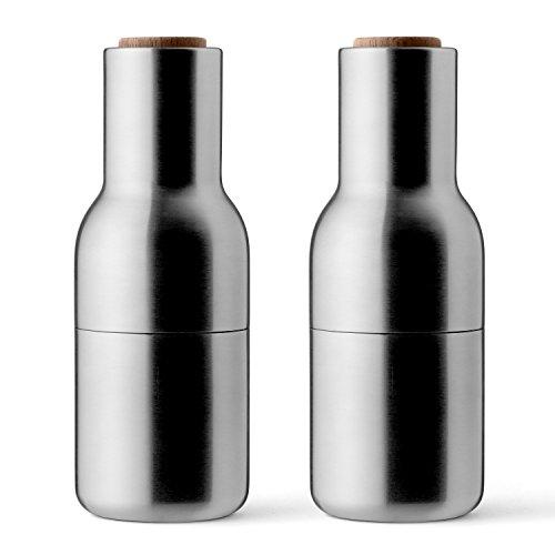 MENU Salz- und Pfeffermühle Gebürsteter Stahl/Walnuss