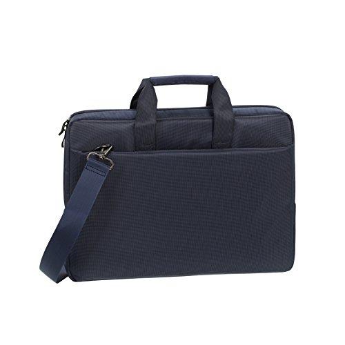 """RIVACASE Laptoptasche bis 15.6"""" – Kompakte Tasche mit zusätzlich gepolsterten Notebookfach und viel Stauraum – blau"""