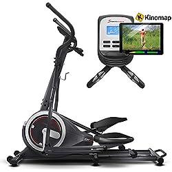 Sportstech CX640 Bicicleta elíptica Compatible con Aplicaciones para Smartphones, Volante de inercia de 24 KG + 26 programas de Ejercicios + función HRC + Entrenamiento eficaz