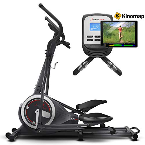 Sportstech CX640 Elliptical Cross Trainer Compatible with Smartphone App, 24kg Flywheel Mass, 26 Training programs incl. HRC Function, Hometrainer, Bottle Holder