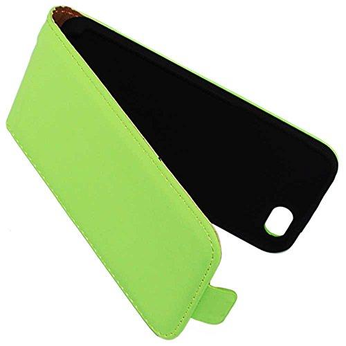 ebestStar - pour Apple iPhone 5C - Housse Coque Etui à rabat PU cuir ULTRA FIN (ultra slim case) + Stylet tactile, Couleur Or / Doré [Dimensions PRECISES de votre appareil : 124.4 x 59.2 x 9 mm, écran Vert