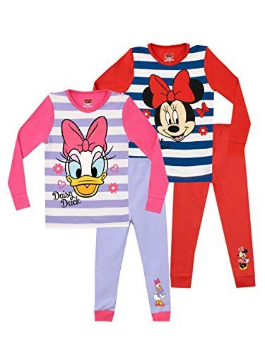 Disney Mädchen Minnie und Daisy Schlafanzug 2 Packung Slim Fit Mehrfarbig 98