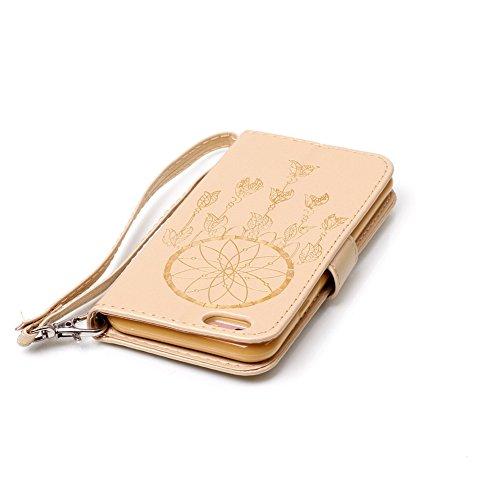 Akristal Bling Diamant Etui Housse Apple iPhone 6/6S (4.7 pouces), Slim-Book Portefeuille Coque Case Cover Prime Hybrid PU Wallet Skin Swag Smartphone Accessories Protection Protecteur D'écran Bumper  Multi-couleur 9