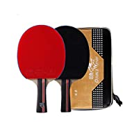 QIANZICAIDIANJIA Table Tennis Racket, 7-star Table Tennis Racket Set Horizontal Shot/Straight Shot Double-sided Anti-stick Training Competition Dedicated (table Tennis Racket * 1) Sports
