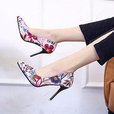 Sanmulyh Chaussures Femme Pu Printemps Automne Pompe Talons De Base Stiletto Talon Astuce Pour Casual Rose Noir Brun Rose