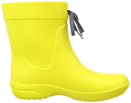 crocs Damen Fsailshrtrainbt Gummistiefel Gelb Lemon