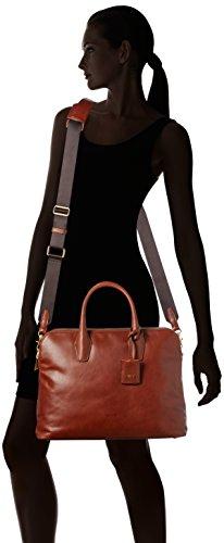 BREE Chicago 3, black, workbag 2 zipper 298900003 Damen Henkeltaschen 40x30x14 cm (B x H x T), Schwarz (black 900) Braun (teak 830)