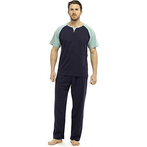 Neu Herren Weich Pyjama Perfect Sommer Frühling Hausanzug Atmungsaktiv Hosen M- XXL - CRAZY AUSVERKAUF SOLANGE DER VORRAT REICHT - Marine, Large (Herren Pjs Flanell)