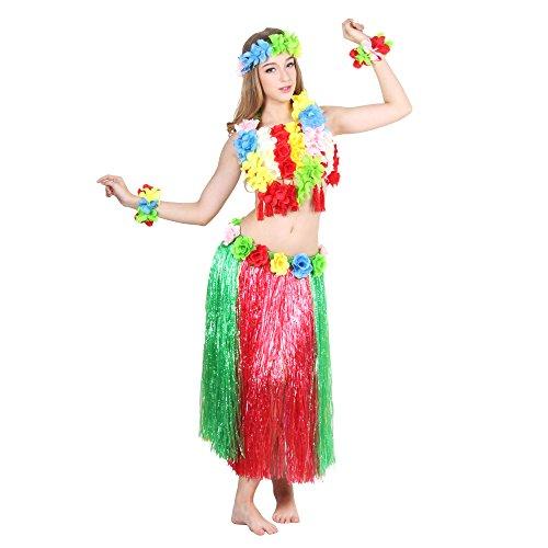 Venid-MASEE-six-piezas-para-faldas-conjunto-de-cinta-y-csped-Artificial-tambin-de-hawaiana-de-flor-de-la-falda-traje-de-bailarina-de-hierba-de