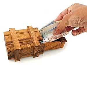 bo te magique pour cadeaux d 39 argent en bois xxl bo te cadeau jeu en bois jeu iq casse t te jeu. Black Bedroom Furniture Sets. Home Design Ideas