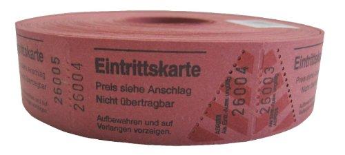 Wolf & Appenzeller 501004 - 1000 Eintrittskarten, fortlaufend nummeriert, rot