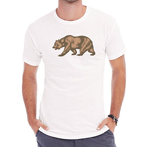 Flag_of_California_Bear Herren T-Shirt Weiß