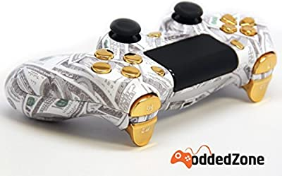 """Money Talks Gold"" Ps4 Custom UN-MODDED Controller Exclusive Design"