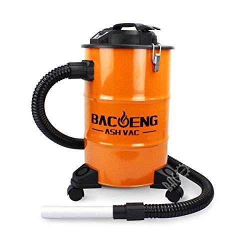 *BACOENG Aschesauger mit zweistufigem Filtersystem, Kaminsauger 20L, 1200W, 1.5m Metallischer Verlängerungsschlauch*