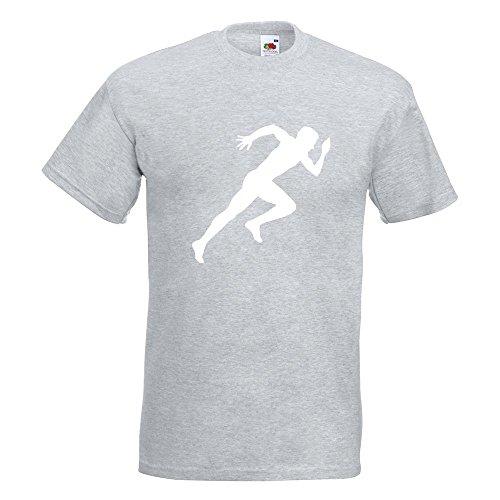 KIWISTAR - Läufer Marathon Sprint T-Shirt in 15 verschiedenen Farben - Herren Funshirt bedruckt Design Sprüche Spruch Motive Oberteil Baumwolle Print Größe S M L XL XXL Graumeliert