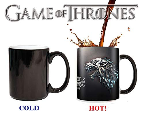 Game Of Thrones Mugs Stark Winter Is Next Color Change Mugs Sensible Tea Ceramic Cup Friends Gift