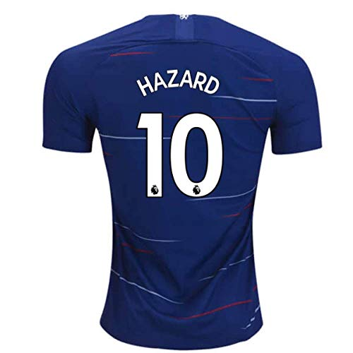 2018-2019 Chelsea Home Nike Football Soccer T-Shirt Camiseta (Eden Hazard 10) - Kids