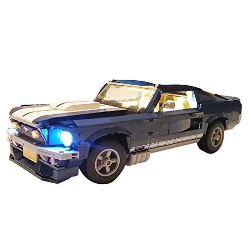 YVSoo LED Licht-Set für Baustein Spielzeug LED Beleuchtung Kit für Lego GT Mustang 10265 - Modell Nicht Enthalten