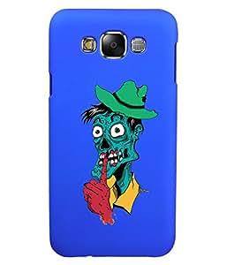 KolorEdge Back Cover For Samsung Galaxy E7 - Royal Blue (5875-Ke15125SamE7RBlue3D)