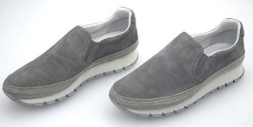 Prada ,  Damen Slip-On, Grigio Acciaio - Steel Grey - Größe: 40 EU