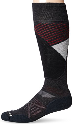 Smartwool Herren Socken PHD Light Muster Ski Socken Medium anthrazit