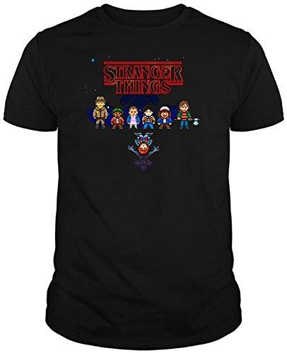 Camiseta de Hombre Stranger Things Serie Retro TV 80 S