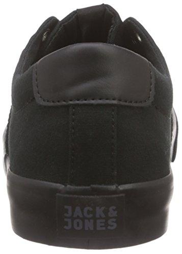 JACK & JONES Herren Jjsurf Canvas Low Sneaker Top Schwarz (Black)