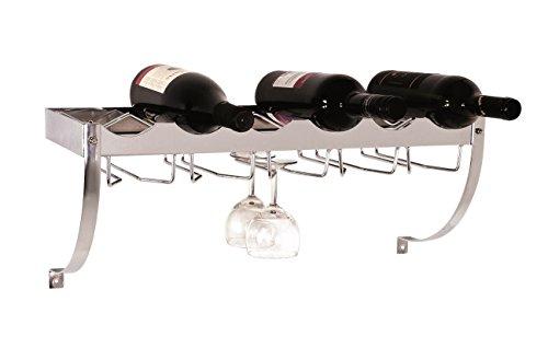 Weinregal für 6 Flaschen und 10 Glässern in chrom