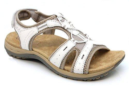 l11564g Earth Spirit pour Femme Columbia d'été à talon bout ouvert Sandales Taille 3–9 Blanc - blanc