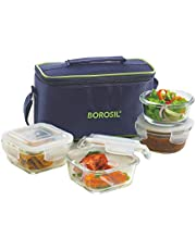 Borosil Glass Universal Lunch Box Set of 4