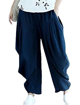 Pantaloni Larghi Donna Harem Baggy Pantaloni Eleganti Hip Hop Pantalone Taglie Forti