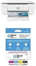 HP DeskJet 3720 Stampante Multifunzione con 3 Mesi di Prova Gratuita del Servizio Instant Ink, Grigio Perla + Instant Ink Enrollment Card