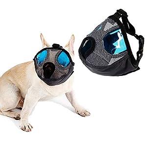 Petneces Muselière pour chien, Pet Bouche Masque anti aboiements et piqûres d'en maille Muselières