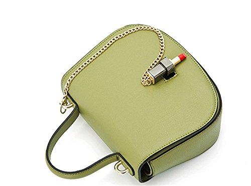 Xinmaoyuan Borse donna rossetto bloccare Borsetta tracolla messenger catena sella borsette,Rosa Verde chiaro