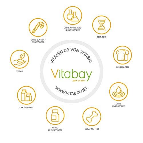 Vitamin D-Depot 5.600 I.E. Wochendosis - 800 I.E. pro Tag - 120 vegane Tabletten - 4