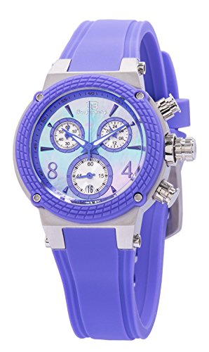 Grafenberg Women's Quartz Watch with Purple Dial Analogue Display and Purple Silicone Bracelet GB206-190