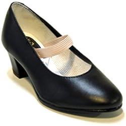 Zapatos Flamenca Flamenca Zapatillas de Deporte, Mujer, Negro, 29