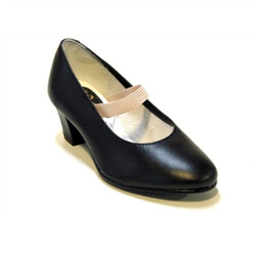Zapatos Flamenca - Calzado de danza para mujer, color negro, talla 28