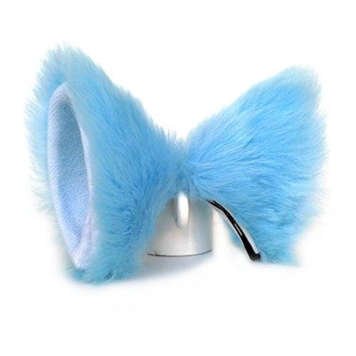 Kostüm Blaue Katze - ONECHANCE Katze Fox Pelz Ohren Haarspange Headwear Anime Cosplay Halloween Kostüm (Blau)
