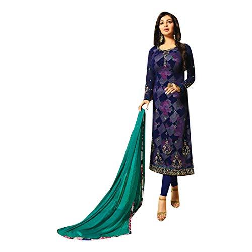 ETHNIC EMPORIUM Indian Pakistani Straight Salwar Hochzet Señoras Kamiz Kameez Traje Bollywood Girls Top Straight Pants Traje de la Boda Georgette Mens Party Women 2882