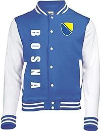 Aprom-Sports Bosnien College Jacke Sport Fussball Freizeit Sweatjacke -  Royal Spa be68c420b5